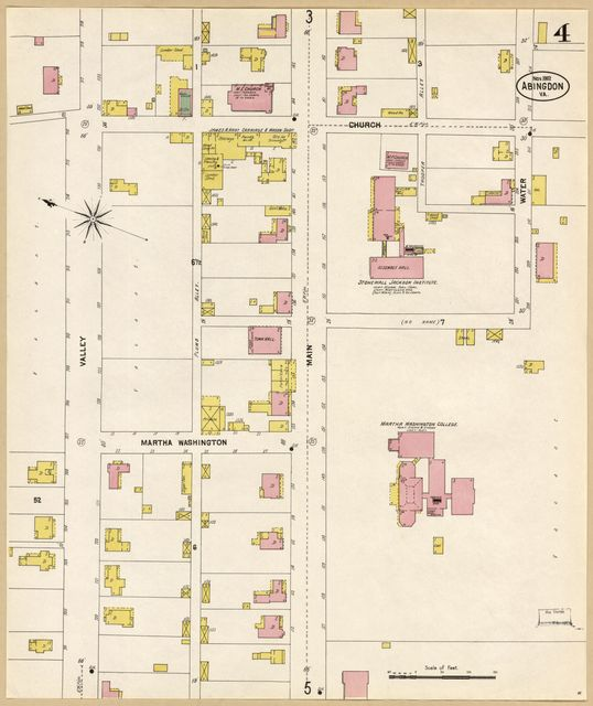 Sanborn Fire Insurance Map from Abingdon, Washington County, Virginia.