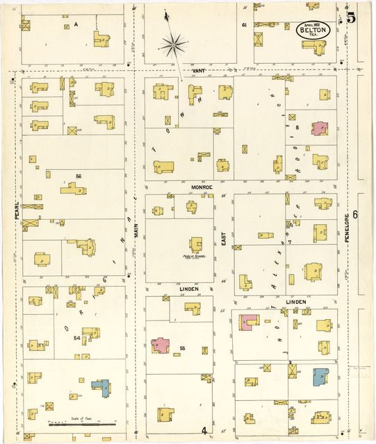 Sanborn Fire Insurance Map from Belton, Bell County, Texas.