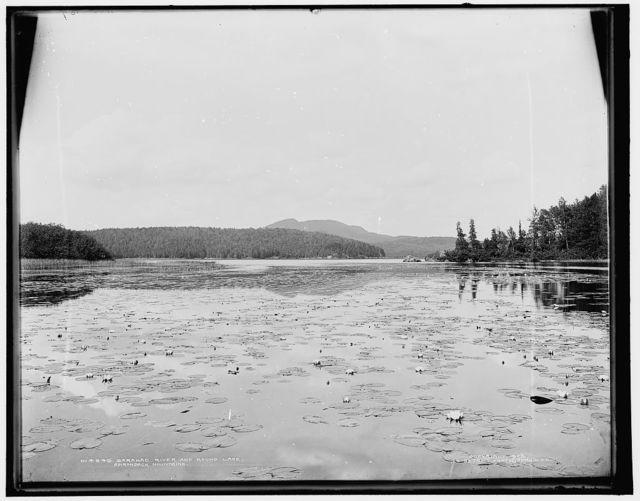 Saranac River and Round Lake, Adirondack Mountains