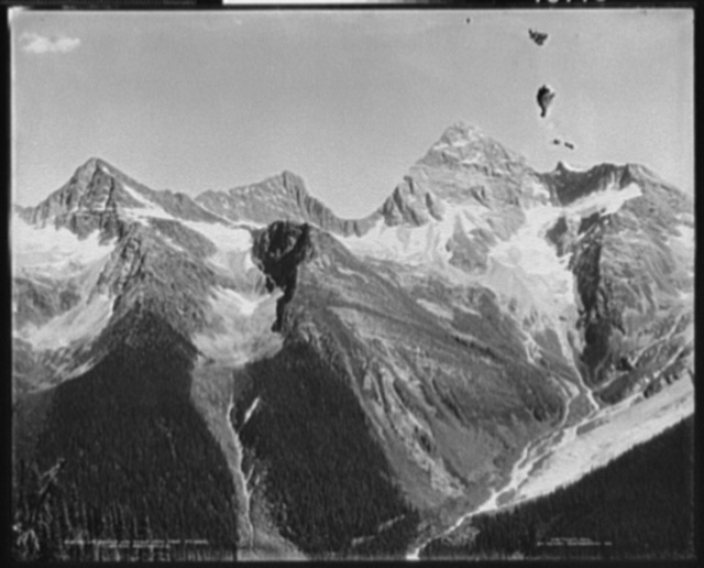 Sir Donald & Eagle Peaks from Mt. Abbot, Selkirk Mts., B.C.