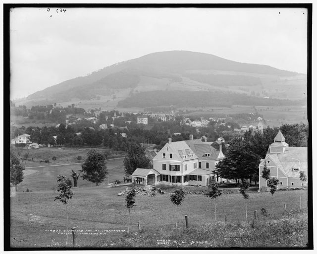Stamford and Mt. Utsayantha, Catskill Mountains, N.Y.