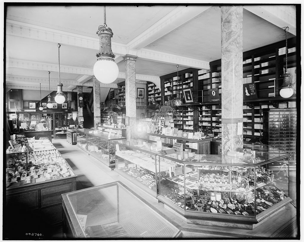 [Store interior with display cases, Richmond & Backus Co., Detroit, Mich.]