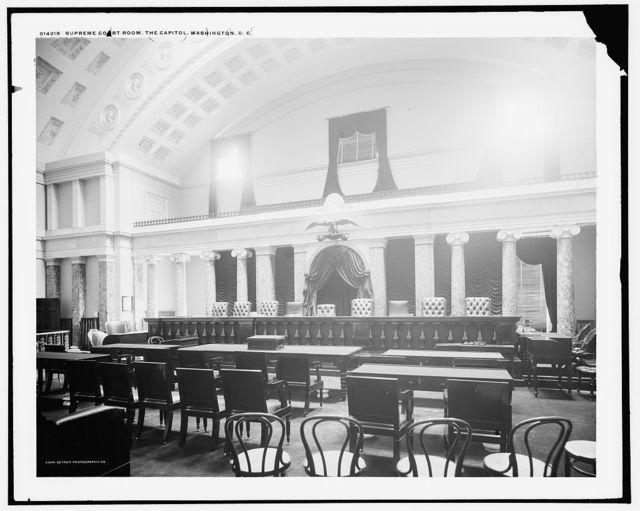 Supreme Court room, the Capitol, Washington, D.C.