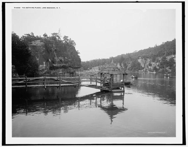 The Bathing place, Lake Mohonk, N.Y.