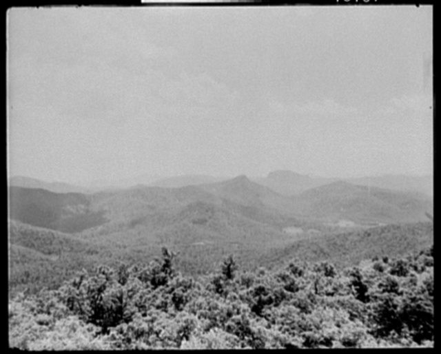 The Blue Ridge from Mt. Toxaway, Sapphire, N.C.