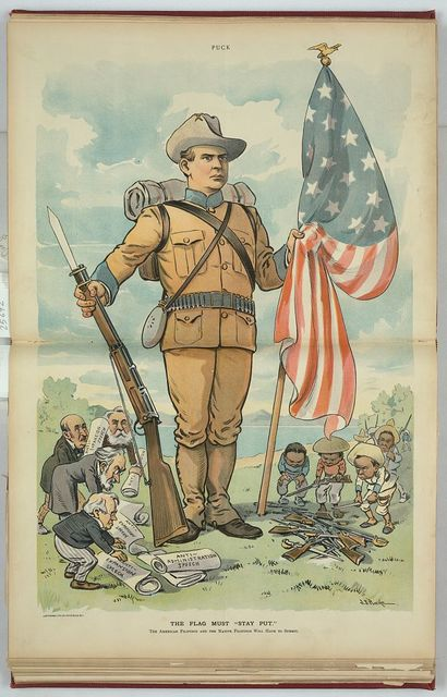 """The flag must """"stay put"""" / J.S. Pughe."""