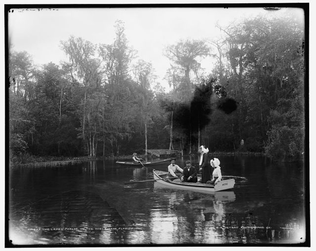 The ladies' parlor on the Ocklawaha [sic], Florida