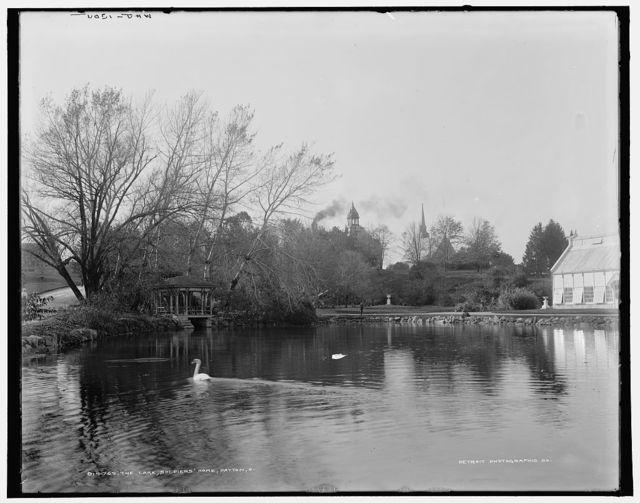 The lake, Soldiers' Home, Dayton, O[hio]