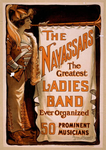 The Navassars, the greatest ladies band ever organized 50 prominent musicians.