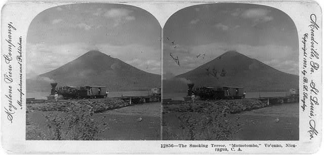 "The smoking terror, ""Momotombo,"" volcano, Nicaragua, C. A."
