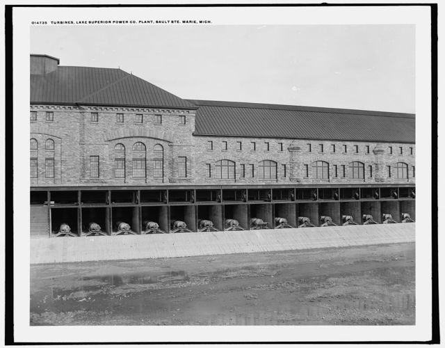 Turbines, Lake Superior Power Co. Plant, Sault Ste. Marie, Mich.