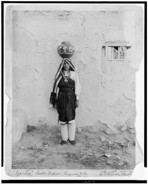 """Tzu-chey"", Pueblo Indian, Laguna, N.M."