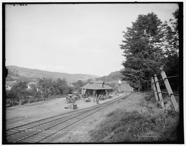 Ulster and Delaware Railroad station, Fleischmann's, Catskill Mountains, N.Y.