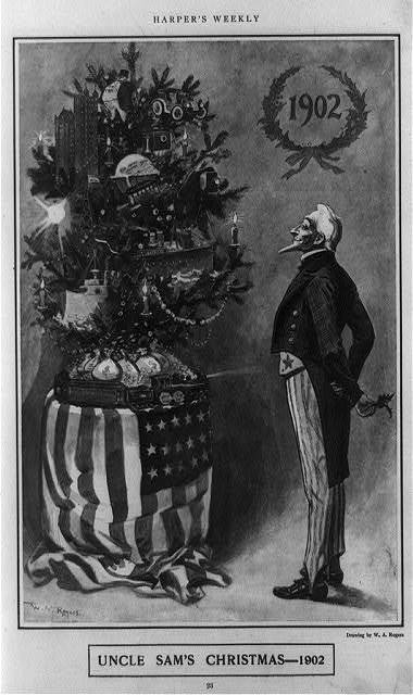 Uncle Sam's Christmas--1902 / W.A. Rogers.