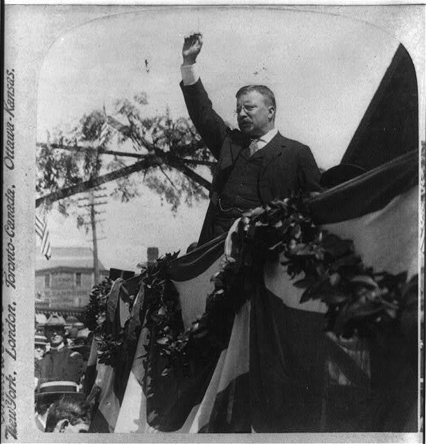 """""""Whether we will or not, we as a nation front a great destiny""""--President Roosevelt, South Lawrence, Mass."""