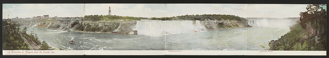 A panorama of Niagara from the Canada side