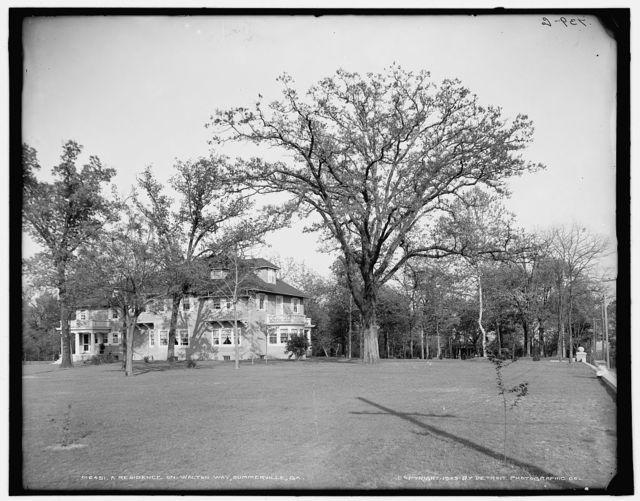 A Residence on Walton Way, Summerville, [i.e. Augusta] Ga.