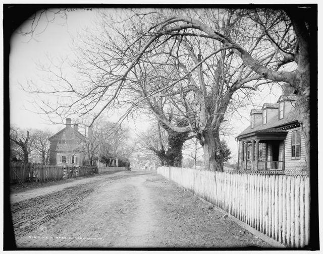 A street in Yorktown, Va.