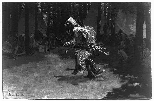 [An Indian dance] / Frederic Remington.