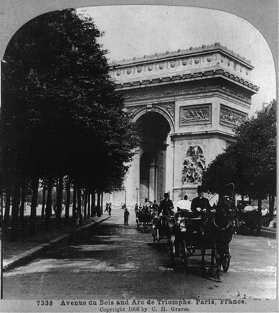 Avenue du Bois and Arc de Triomphe, Paris, France
