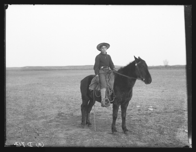 Blain Grow, a young tenderfoot on the Flagg Ranch , South Loup, Nebraska.