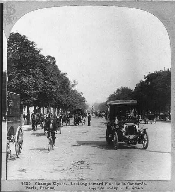 Champs Elysees, looking toward Place de la Concorde, Paris, France