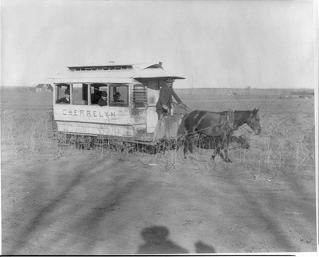 [CHERRELYN, a horsecar on country road outside Denver, Colo.]