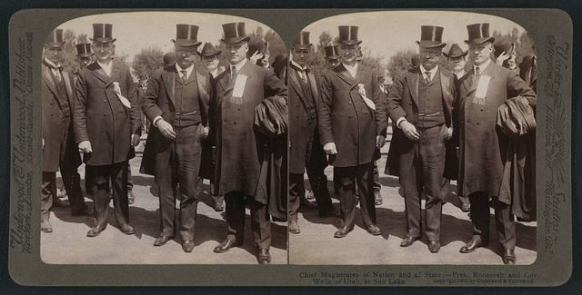 Chief magistrates of nation and of state - Pres.  Roosevelt and Gov. Wells, of Utah, at Salt Lake