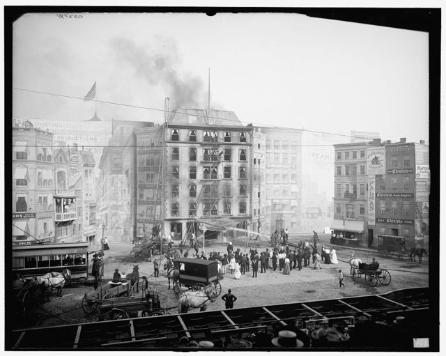 [Coney Island, N.Y., fighting the flames]