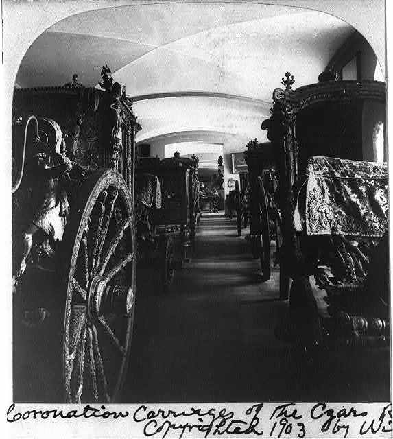 Coronation carriage's of the Czars, Royal Museum of the Kremlin, Moscow