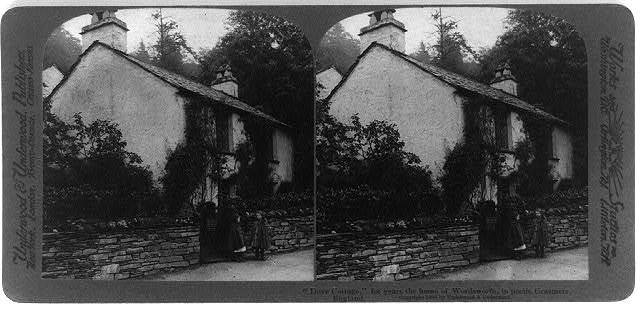 Dove Cottage, for years the home of Wordsworth, in poetic Grasmere, England