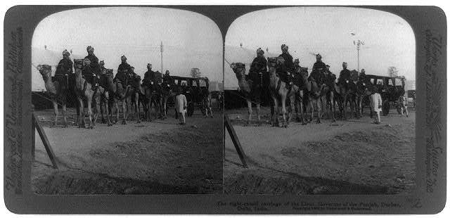 Durbar, Delhi, India. The eight-camel carriage of the Lieut. Governor of the Punjab
