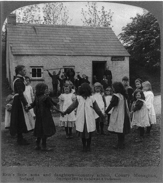 Erin's little sons and daughters - country school, County Monaghan, Ireland