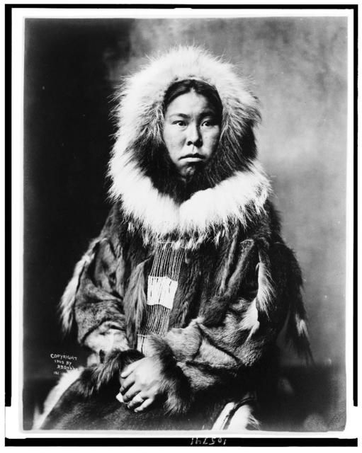 [Eskimo, Inuit, half-length portrait, facing slightly right]