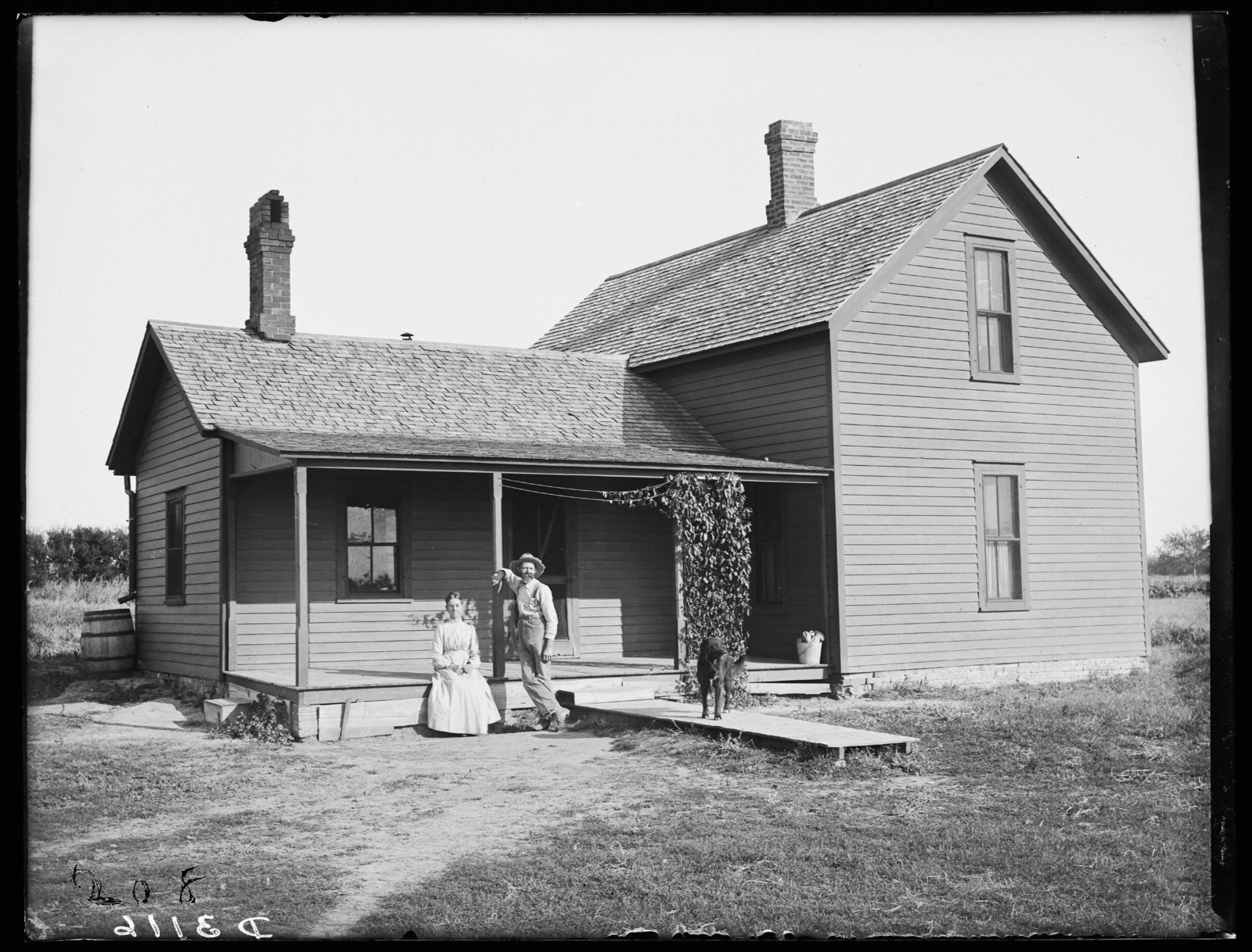 Farm house of Darwin Gilpin near Kearney, Nebraska.