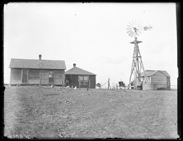 Farm scene in Buffalo County, Nebraska