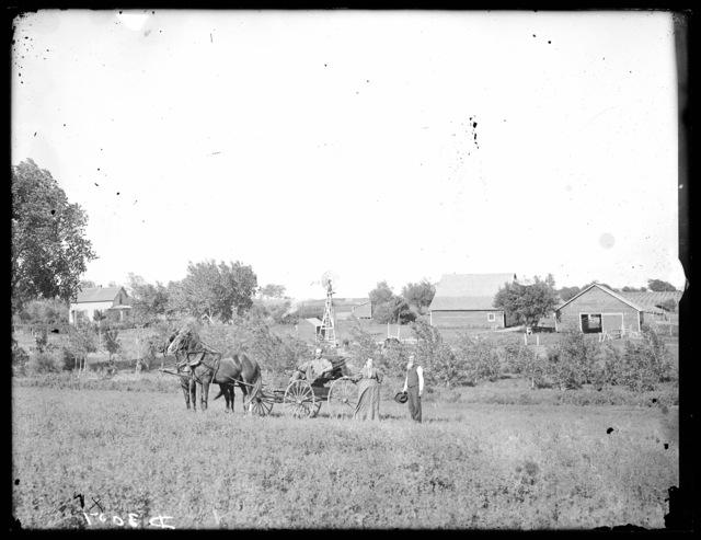 Farm scene southeast of Prairie Center, Buffalo County, Nebraska