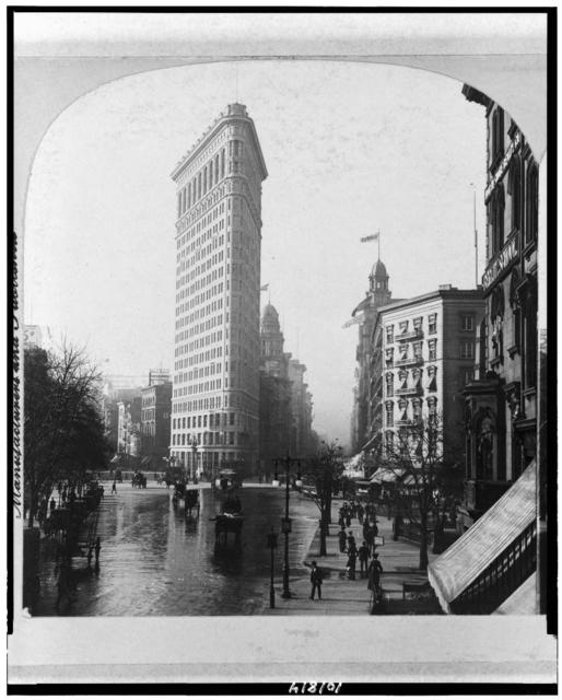 """""""Flat Iron"""" Building, Fifth Avenue and Broadway, New York, N.Y., U.S.A."""