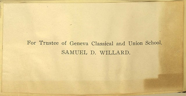 For Trustee of Geneva Classical and Union School, Samuel D. Willard
