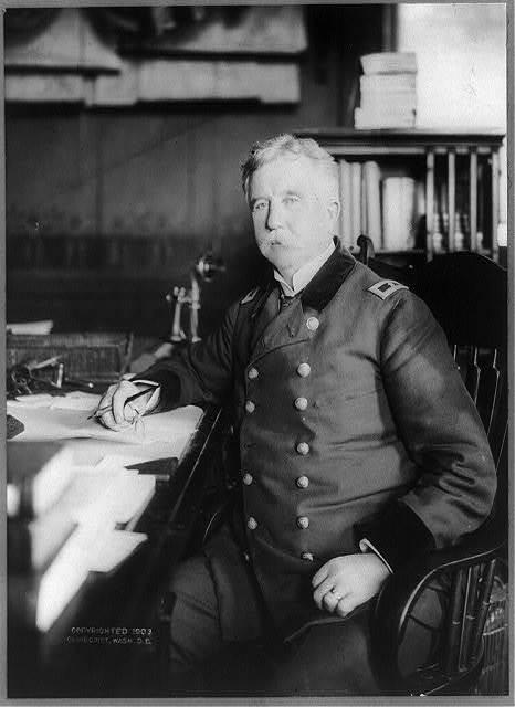 [Gen. Alfred Elliott Bates, Paymaster General, three-quarter length portrait, seated at desk, facing slightly left]