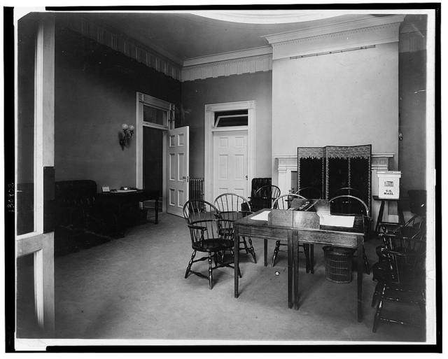General reception room, new White House offices