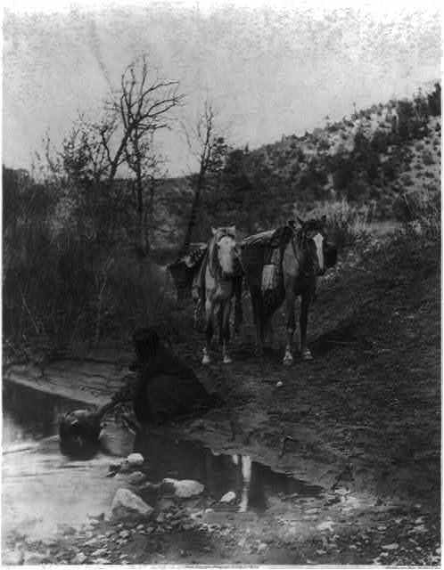 Getting water--Apache
