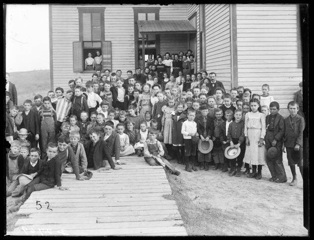 Group photo of students with teachers, Ansley, Nebraska.