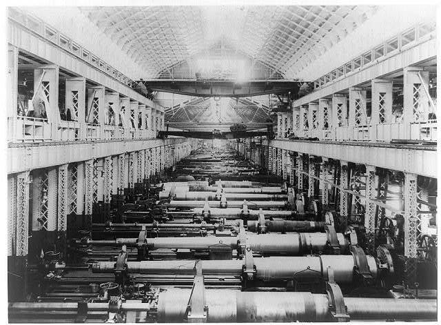 [Interior of U.S. gun shop, Washington Navy Yard]