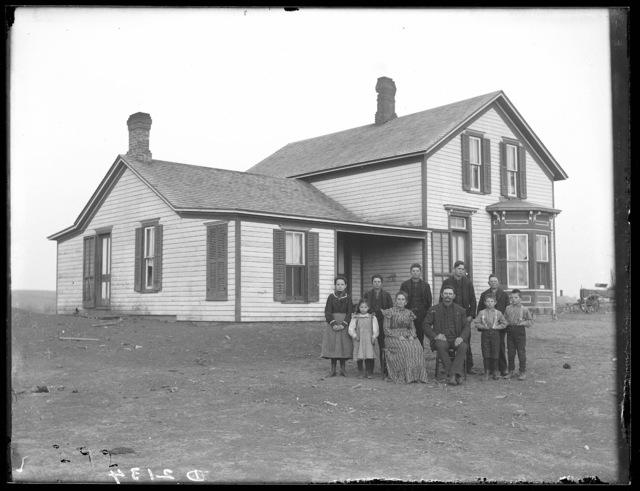 J.E. Harris Family, Amherst, Buffalo County, Nebraska.