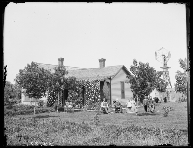 J.W. Haase family in front of their house near Sumner, Nebraska.