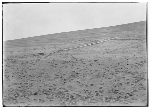 [Launching track on Big Hill, and north slope of Kill Devil Hill; Kitty Hawk, North Carolina]
