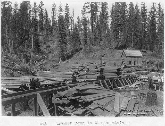 [Lumber camp in the mountains, Western Idaho]