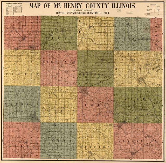Map of McHenry County, Illinois /