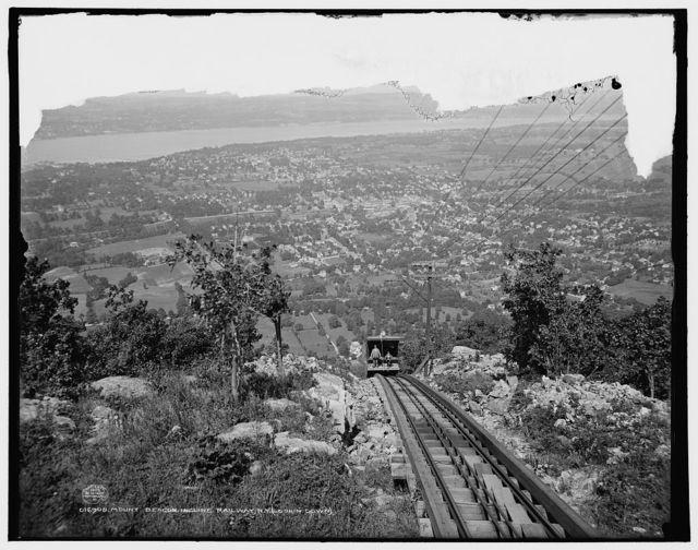 Mount Beacon Incline[d] Railway, N.Y. (lookin [sic] down)